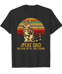 Cat dad the man myth the legend vintage Unisex Tshirt