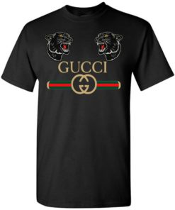 Double Puma Head With Gucci Style Unisex Tshirt