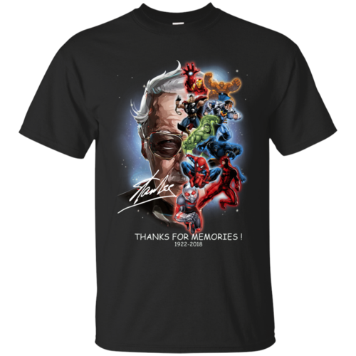 Stan Lee Marvel Superheroes Thanks For Memories T-Shirt Unisex Tshirt
