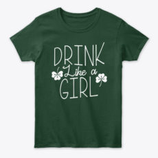 Drink Like A Girl St. Patrick's Blue Unisex Tshirt