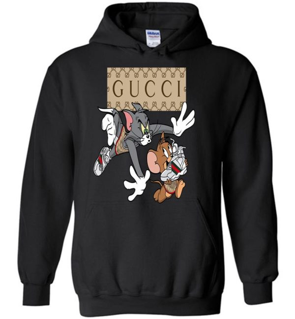 Funny Tom And Jerry In Gucci Fashion LongSleeve Tshirt