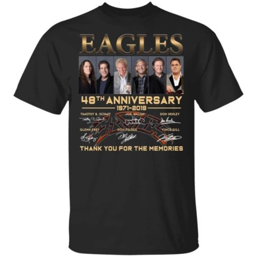 Eagles Band 48 Years Anniversary T-shirt For Eagles Bands Fans Unisex Tshirt