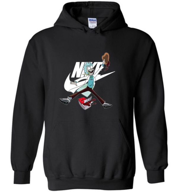 Funny Rick And Morty With Nike Jordan LongSleeve Tshirt