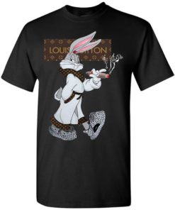 Boss Bug Bunny In Lv Louis Vuitton Fashion Unisex Tshirt