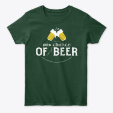 St Patrick's Day Beer Forecast Unisex Tshirt