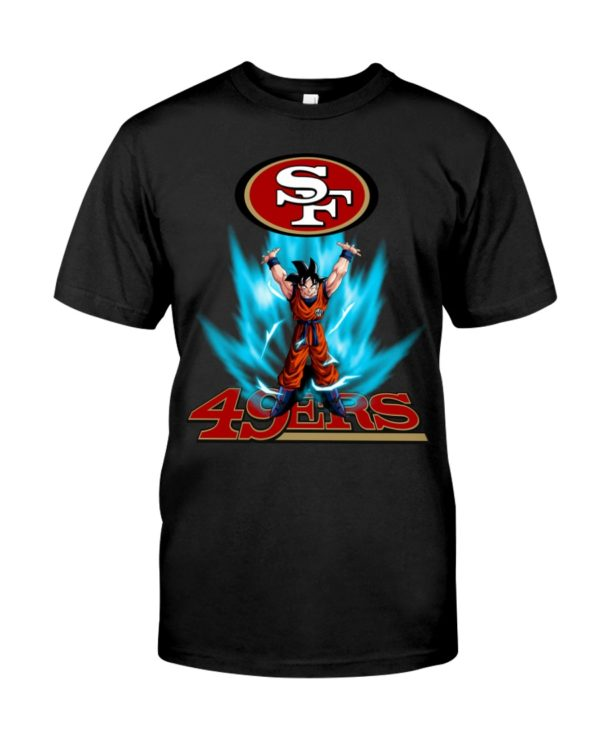 Son Goku Lift Up Logo San Francisco 49Ers Shirt Unisex Tshirt