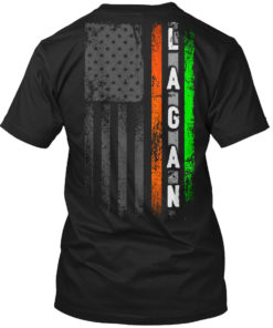 Lagan Family Irish American Flag Unisex Tshirt