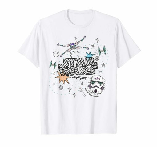 Star Wars Rule Your Galaxy Doodle T-Shirt Unisex Tshirt