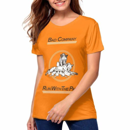 Collette K Maddox Bad Company Run With The Pack Band Music Theme Round Neck  Women Short Sleeve T-Shirt 1879 Unisex Tshirt