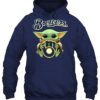 Baby Yoda Hug Milwaukee Brewers Shirt Unisex Tshirt