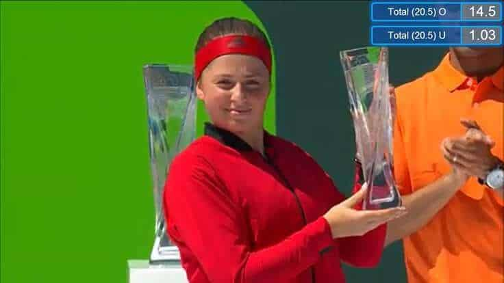 Jelena Ostapenko, Miami Open runner up