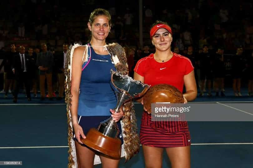 Julia Goerges Bianca Andreescu Auckland 2019