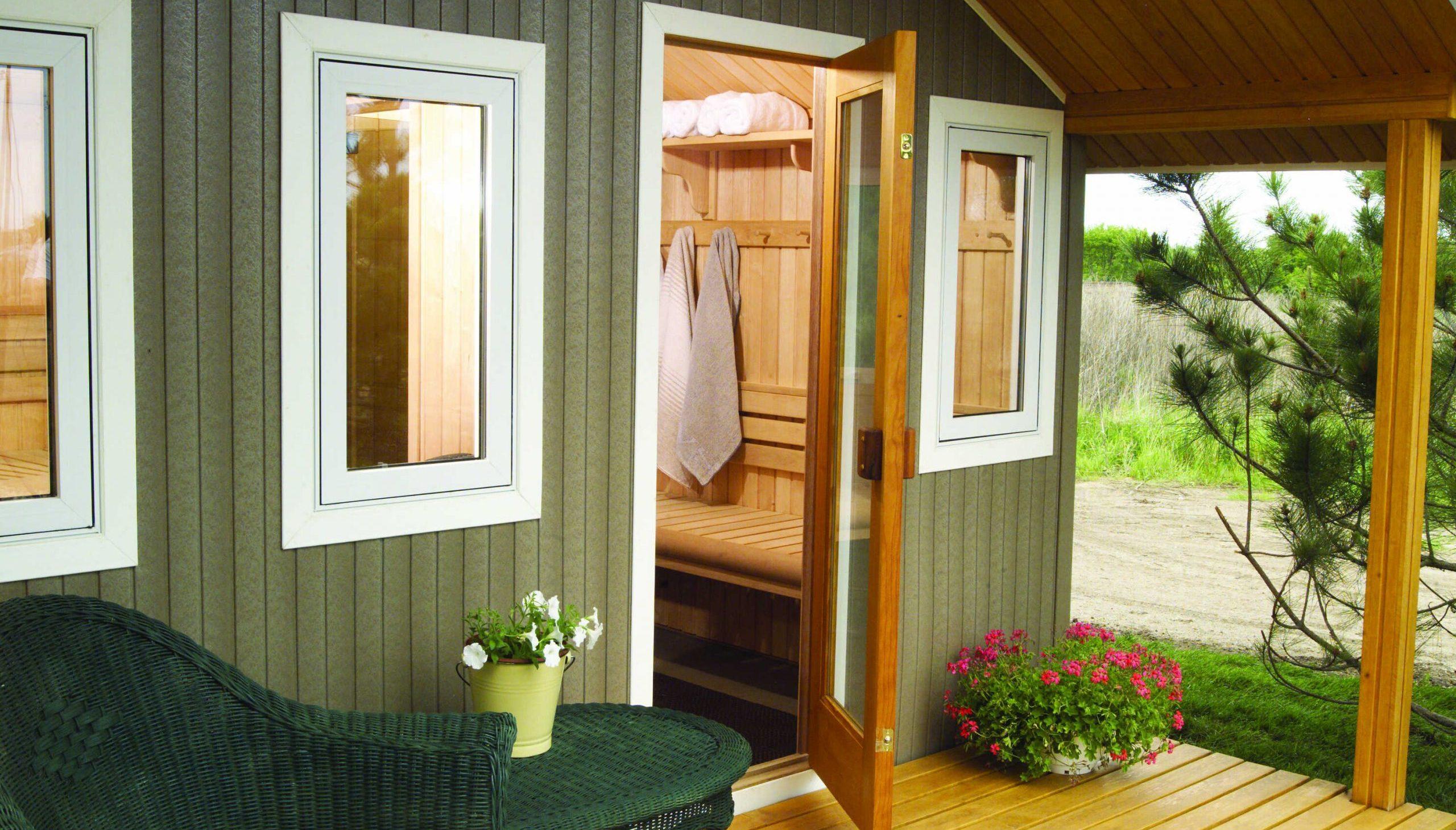 Summertime Sauna Bathing