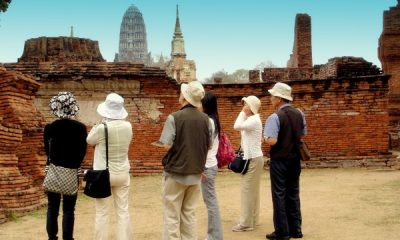 Tourist visit ancient site
