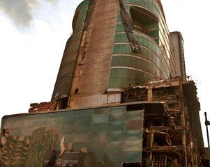 Central World building after burning