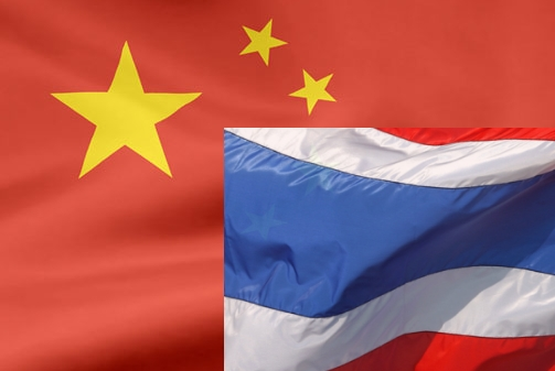 china thailand flags