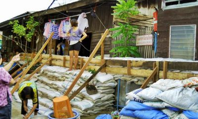 Construction of flood prevention walls along the rivers are aimed at replacing sandbag embankment used during the flood crisis last year.