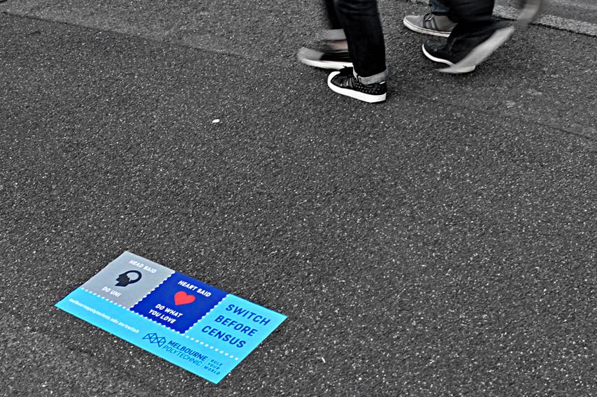 Guerrilla Media Pavement Sticker Decal