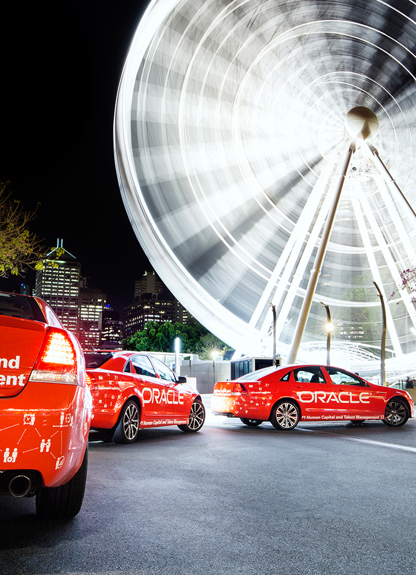Brand Activation for Oracle with cars