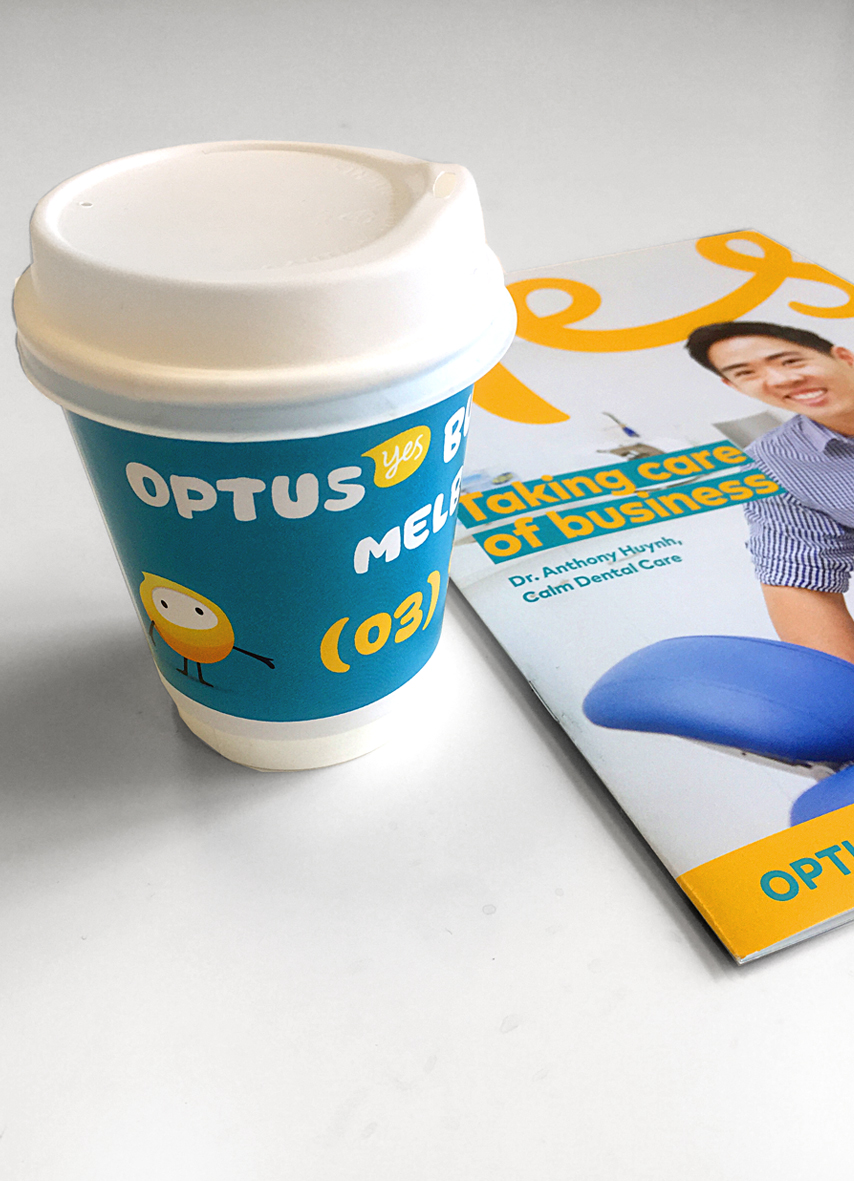 Ambient Media Coffee Cups optus