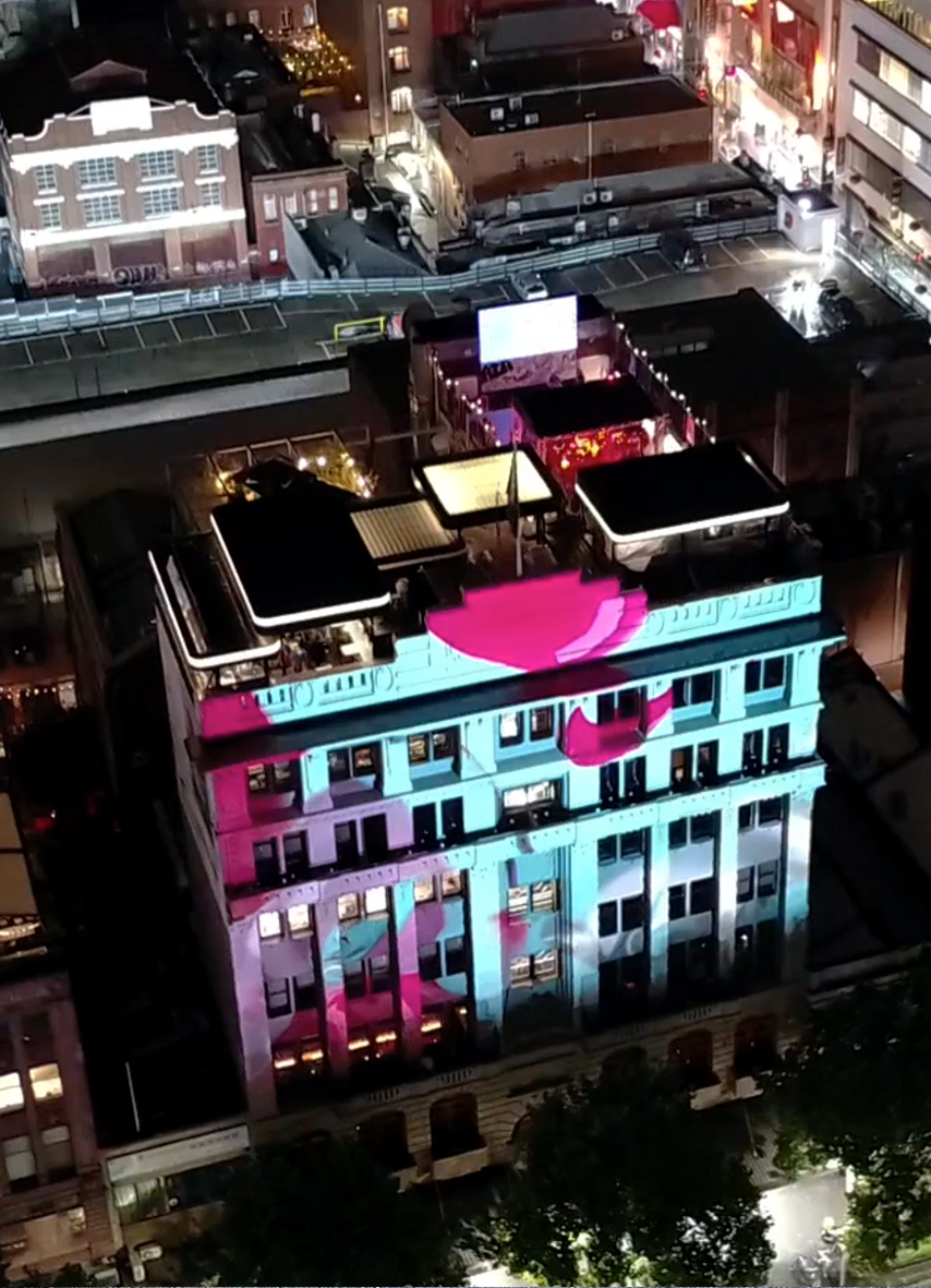 Projection Mapping onto a building