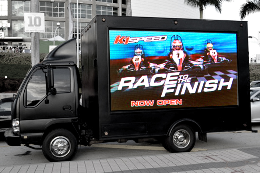 Digital Truck Advertising with go karts