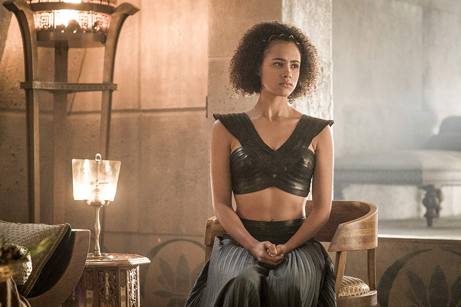 missandei of naath in daenerys targaryen's palace in meereen