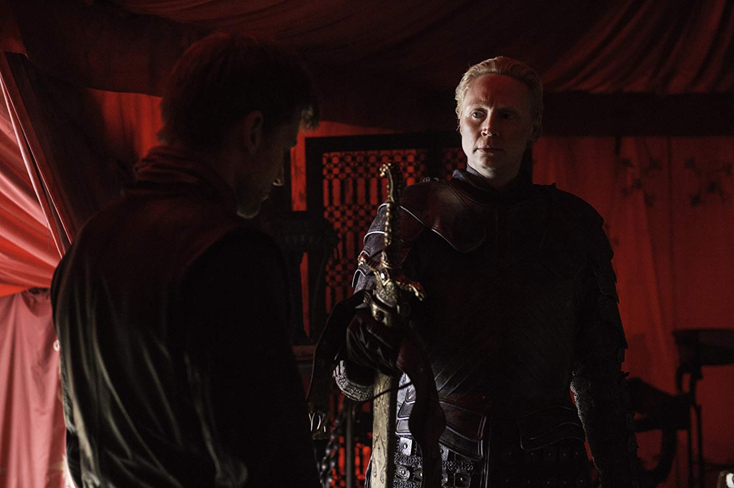 brienne of tarth with jaime lannister