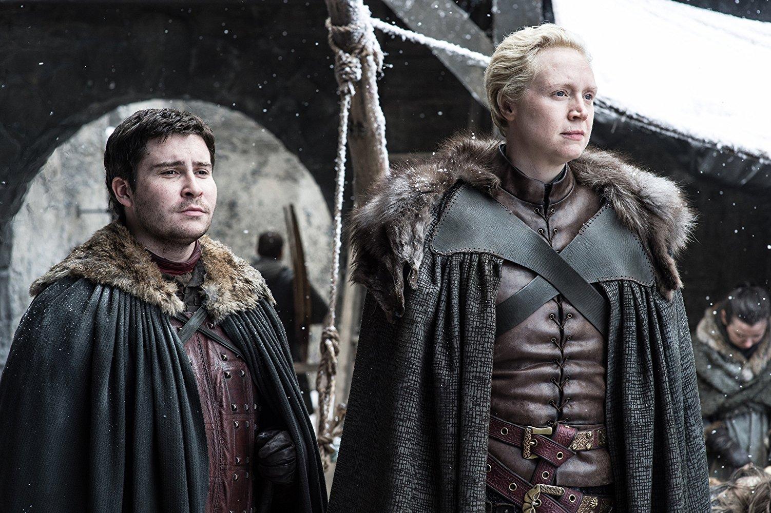 brienne/pod at winterfell in season seven