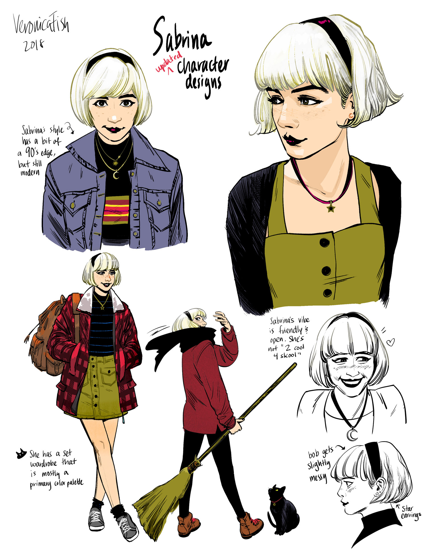 Sabrina the Teenage Witch #1 character designs