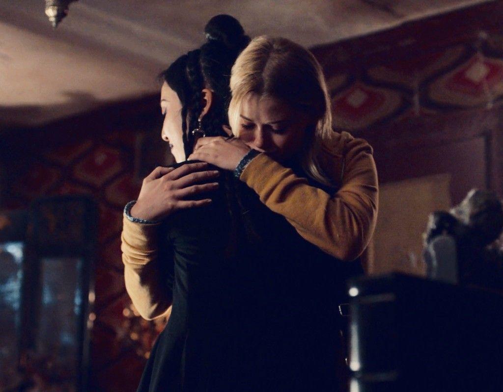nico minoru and karolina dean hug after deanoru becomes canon