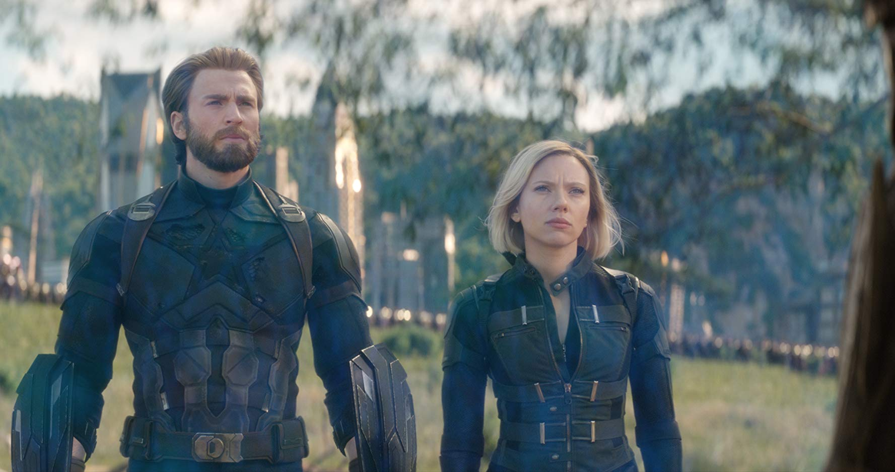 steve rogers and natasha romanoff in avengers: infinity war