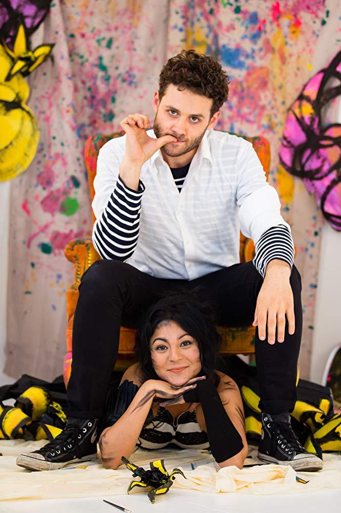 Scribbles cast Brandon Garegnani and Jeane Reveendran