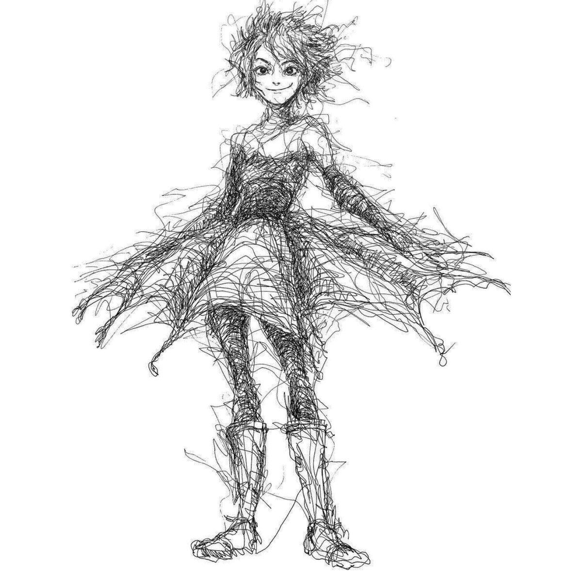 Scribbles, drawn by Hana Hwang