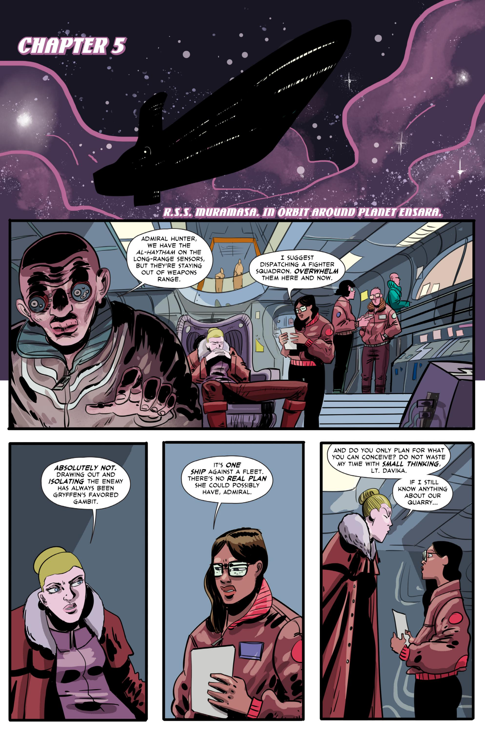Gryffen: Galaxy's Most Wanted #5 Page 1.