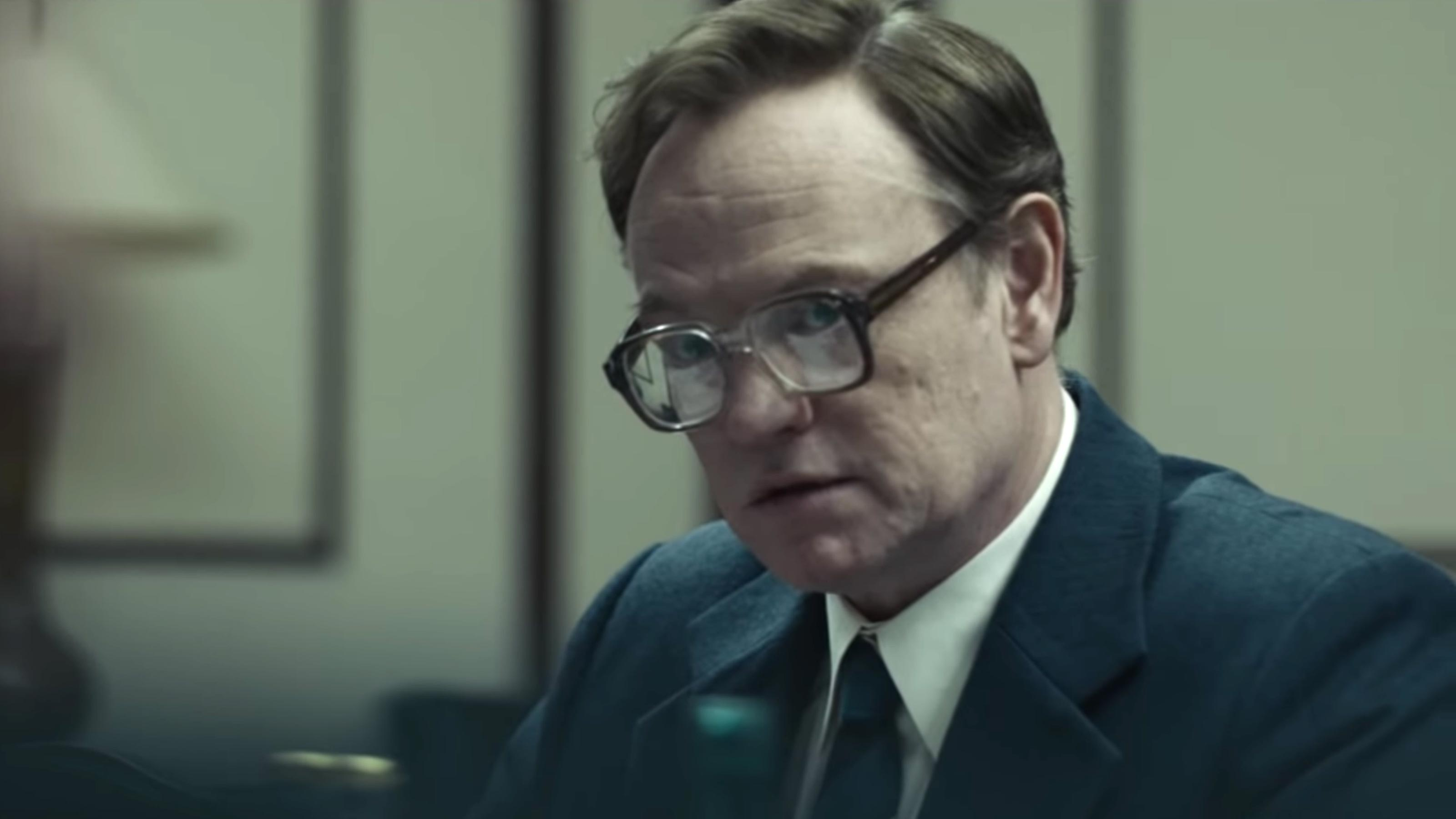 Jared Harris is very serious in HBO's Chernobyl.