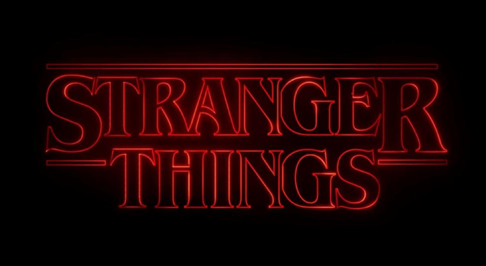 Stranger Things logo for the series on Netflix.
