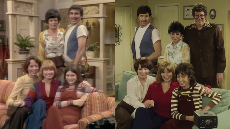 To promote the second season premier, the cast reenacted the opening from the original run of the show.