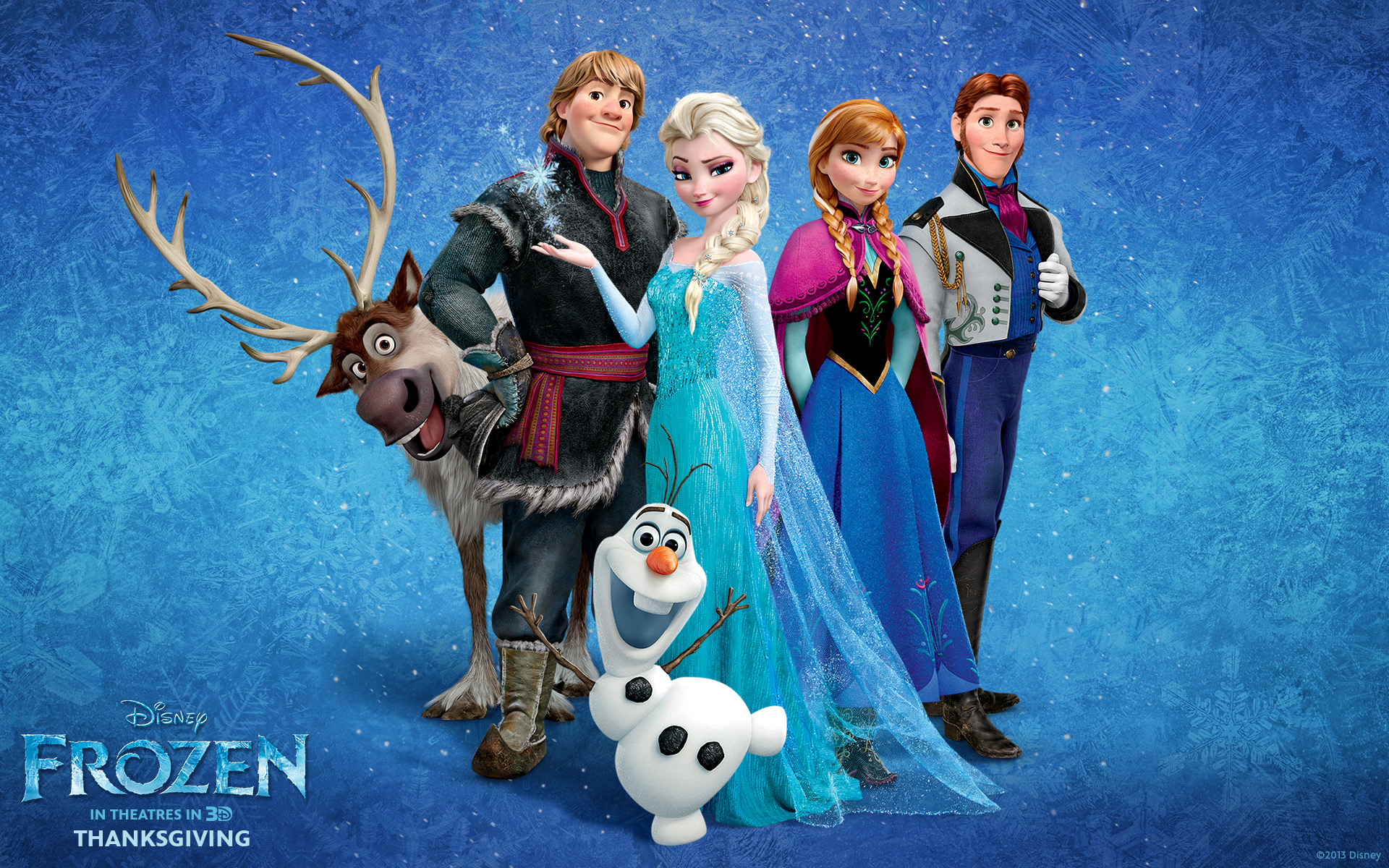 Frozen posters include Elsa, Annam Hans and Kristoff.