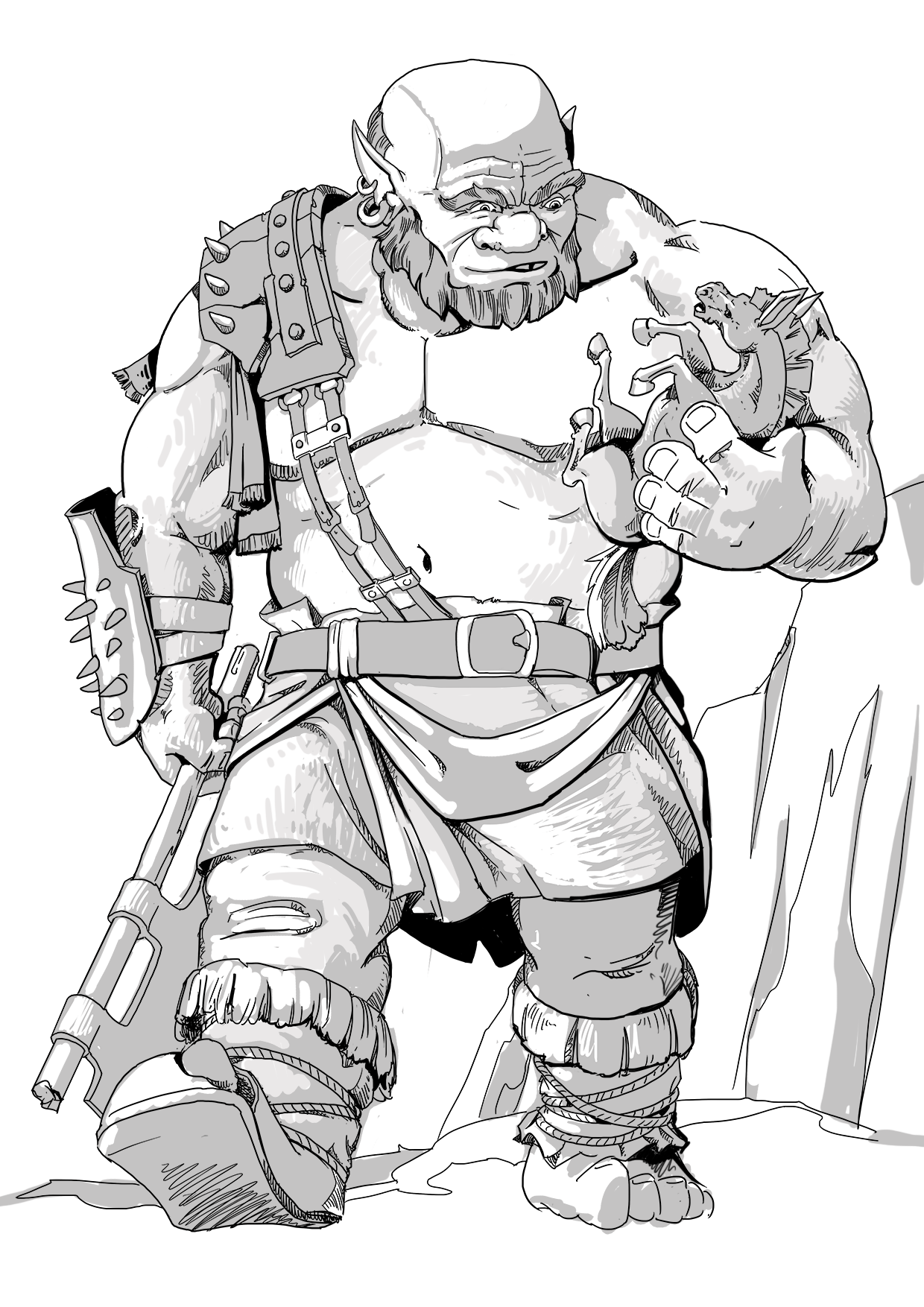 Dungeons and Dragons Ogre with Horse