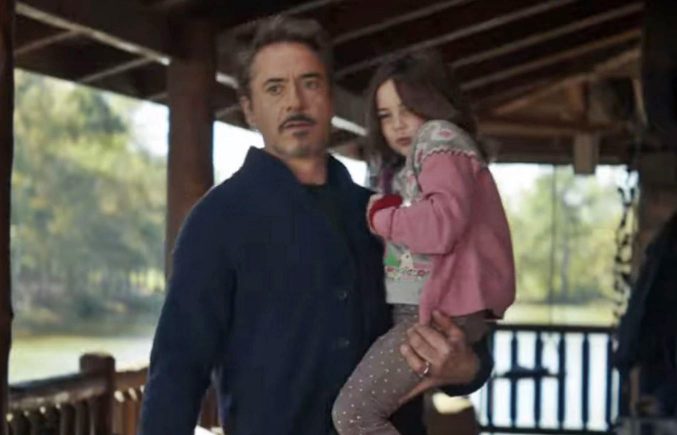 Tony Stark, and his daughter, Morgan Stark, the new fave of the MCU fandom.