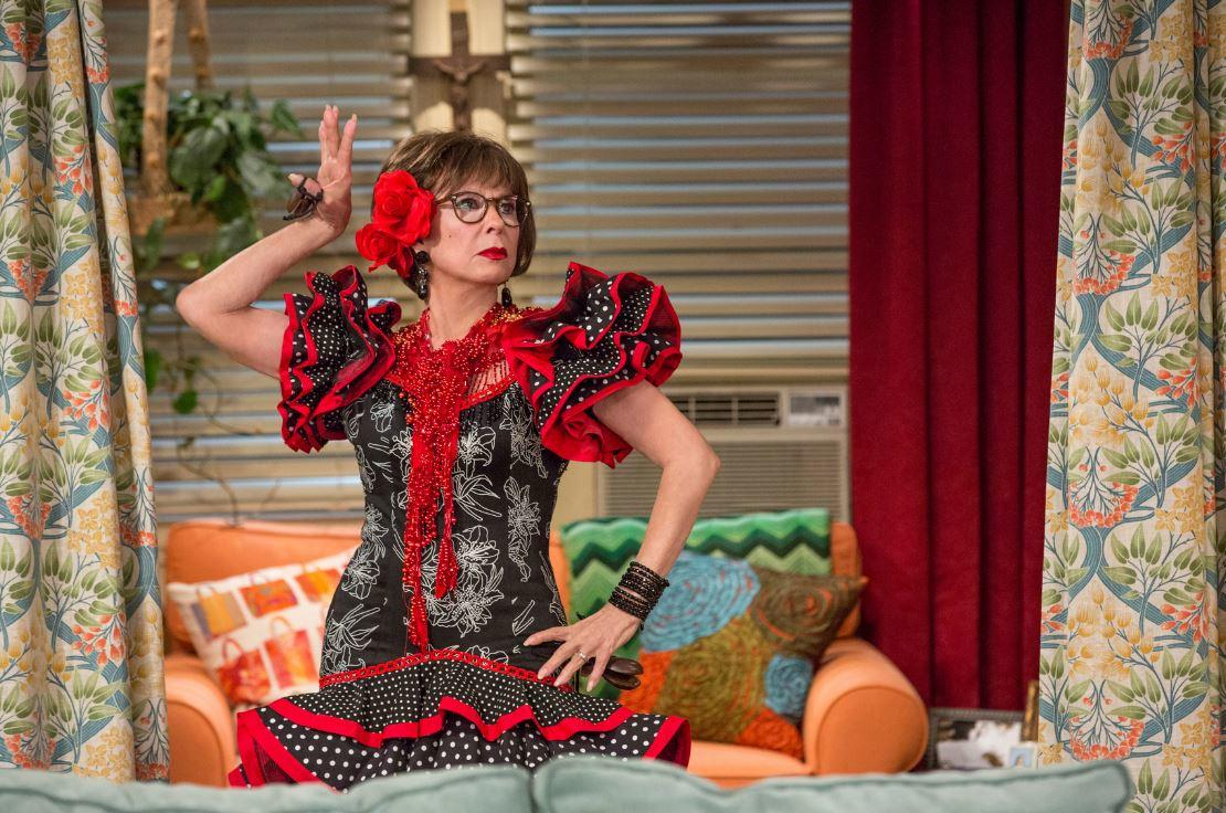 Rita Moreno as Lydia in a classic Cuban dance outfit in One Day At A Time.