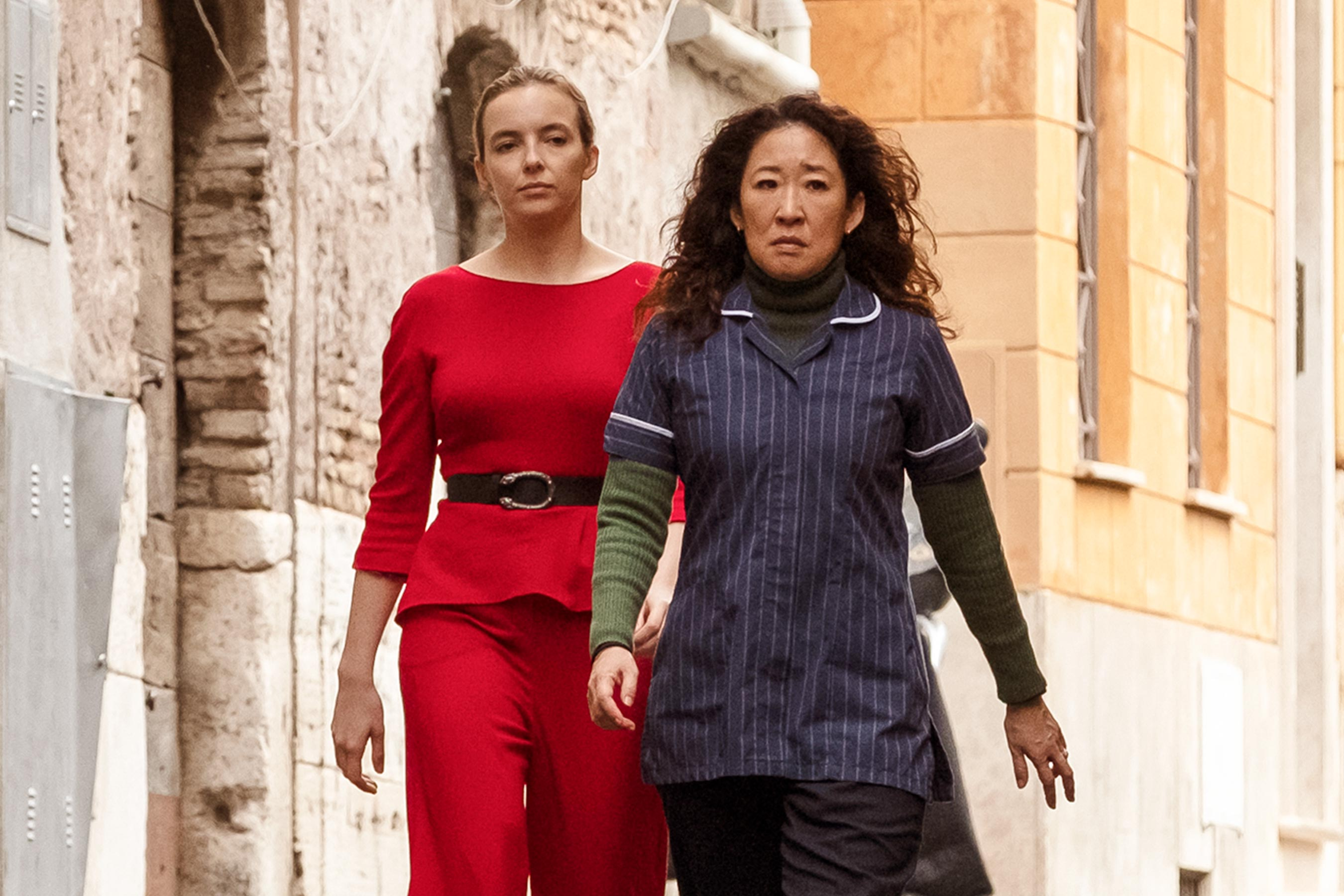 Eve Polastri and Villanelle strut towards their Emmy nominations.