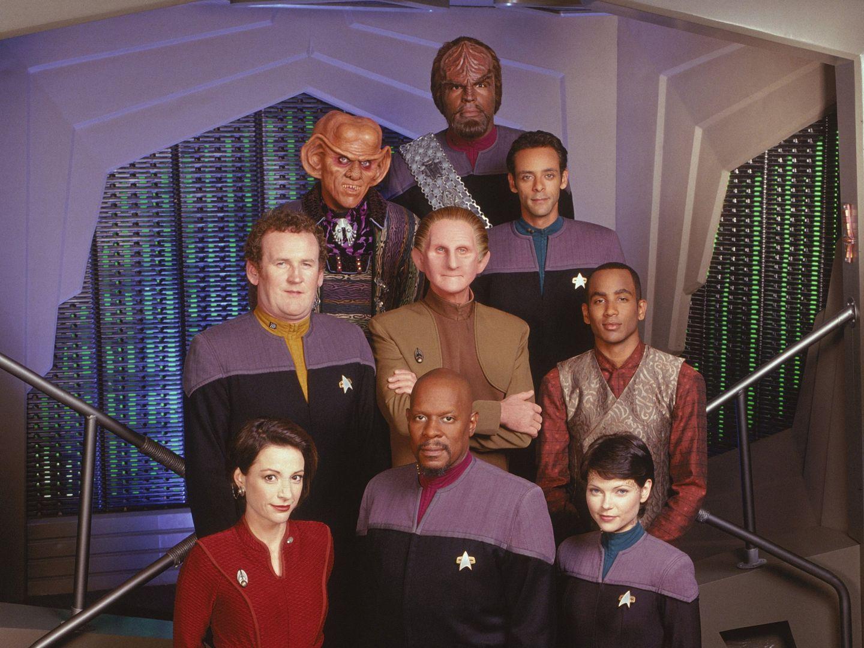 The crew of Star Trek: Deep Space Nine.