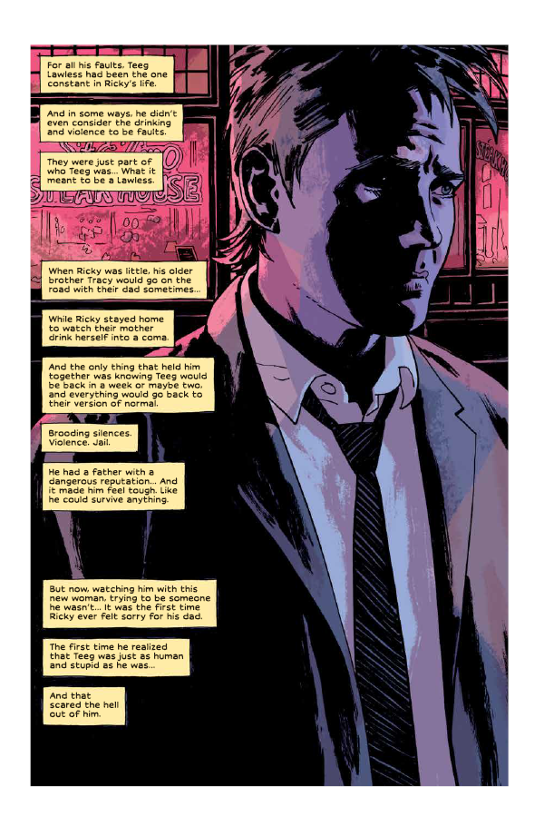 Splash page featuring Ricky Lawless.