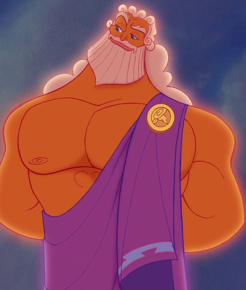 Disney's Zeus, standing smugly and plotting his next move.
