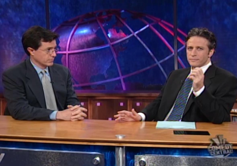 The stars themselves: Jon Stewart and Stephen Colbert