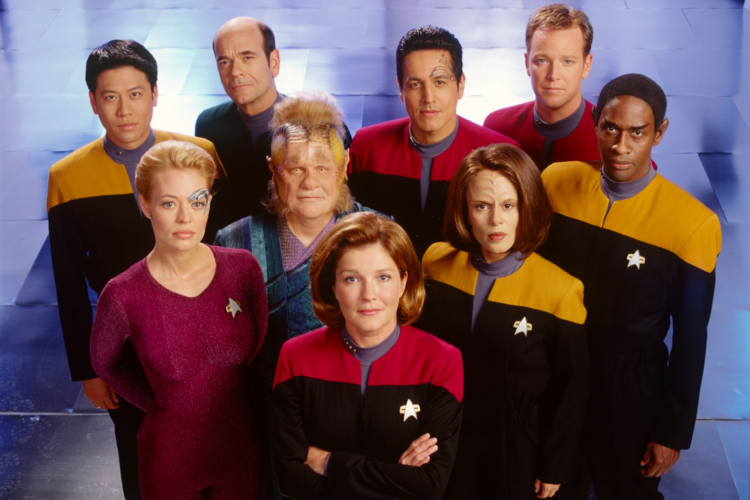The cast of Star Trek: Voyager.