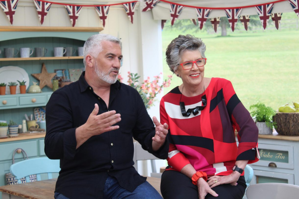 Hosts of The Great British Baking Show Paul Hollywood and Prue Leith.