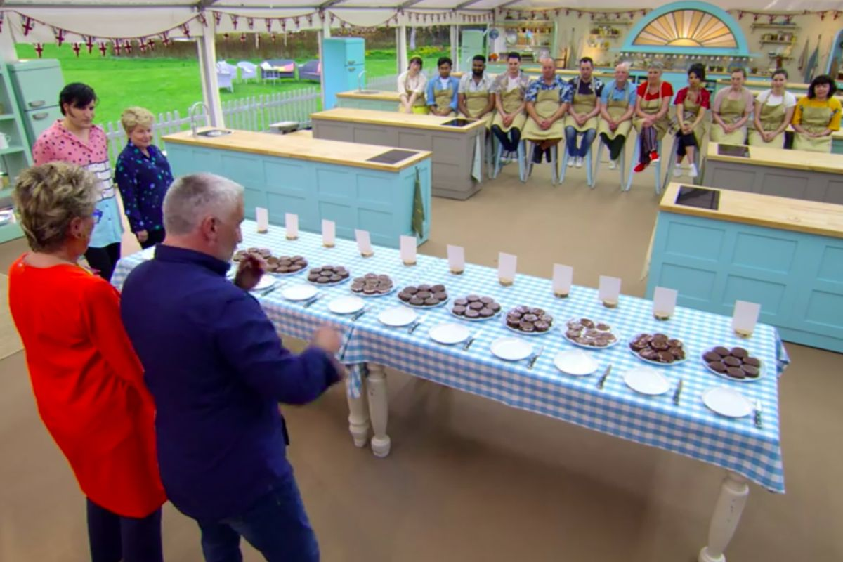 A blind taste-testing of the contestant's bakes during the Technical Challenge.